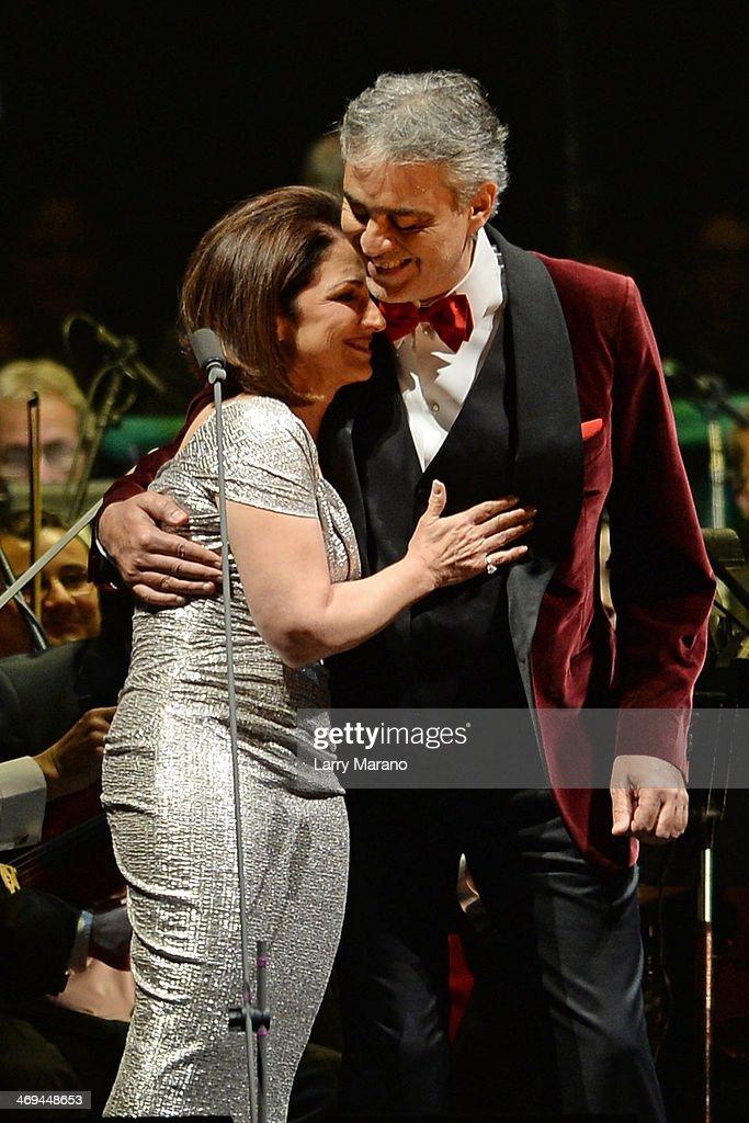 Andrea Bocelli At The Piano With His Wife Enrica Cenzatti