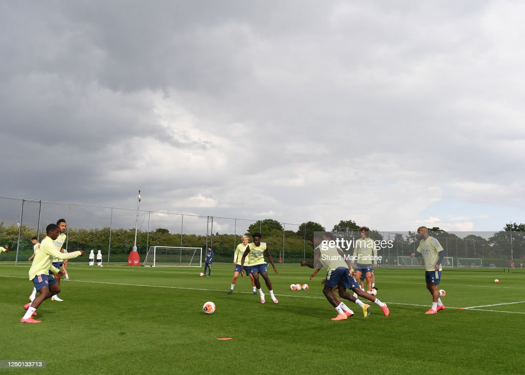 https www gettyimages com detail news photo arsenal training session at london colney on june 16 2020 news photo 1250133713