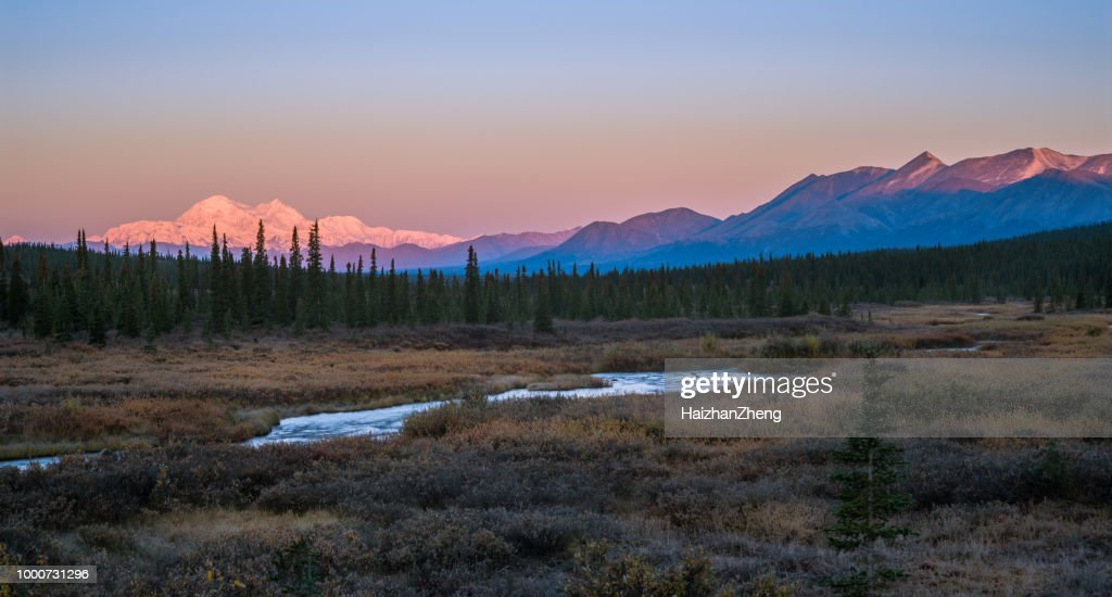 Interior Alaska Stock Photos and Pictures   Getty Images Denali Mountain in Fall