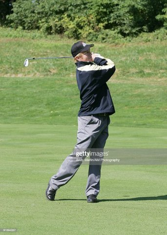 7th Annual Companions in Courage Foundation Golf Classic Photos and     Former NHL player and future NHL Hall of Famer Brian Leetch tees off at the  7th