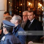French President Emmanuel Macron Looks On At Cafe Belloy Near The News Photo Getty Images
