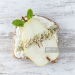 Gluten Free Whole Grain Bread Pear Vegan Cheese And Hemp Seed High Res Stock Photo Getty Images