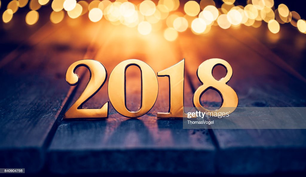 New Year Stock Photos and Pictures   Getty Images Gold Christmas 2018   Lights Wood New Year