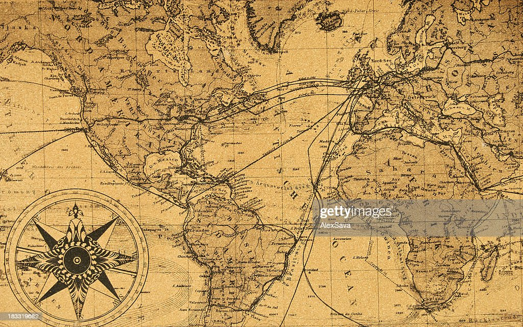 Treasure Map Stock Photos and Pictures   Getty Images old map of the world