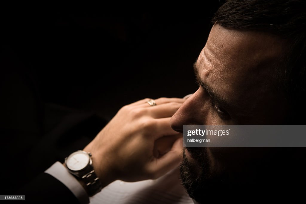 Over The Shoulder Of A Powerful Man Stock Photo