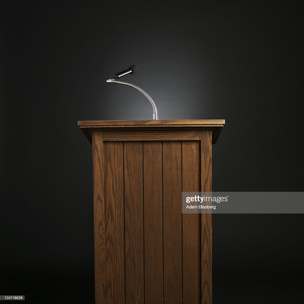 Lectern Stock Photos And Pictures Getty Images