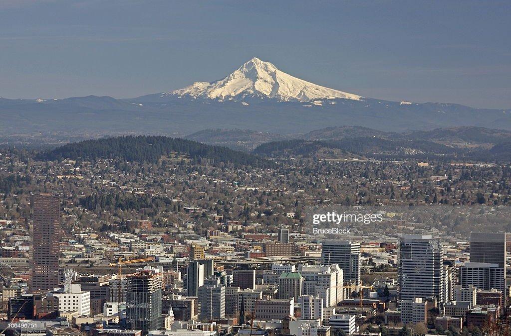 Fall Portland Oregon Downtown Skyline
