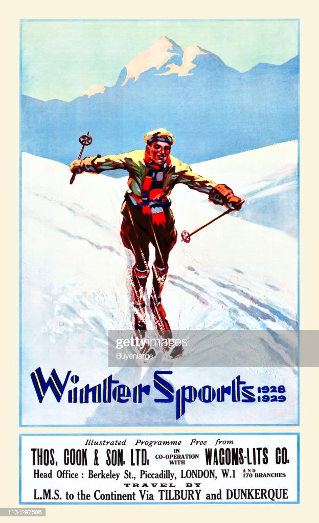 206 vintage ski poster photos and premium high res pictures getty images