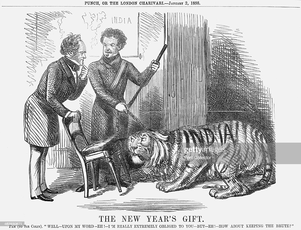 The New Year s Gift   1858  Pictures   Getty Images  The New Year s Gift   1858  This cartoon shows Sir Colin Campbell  presenting