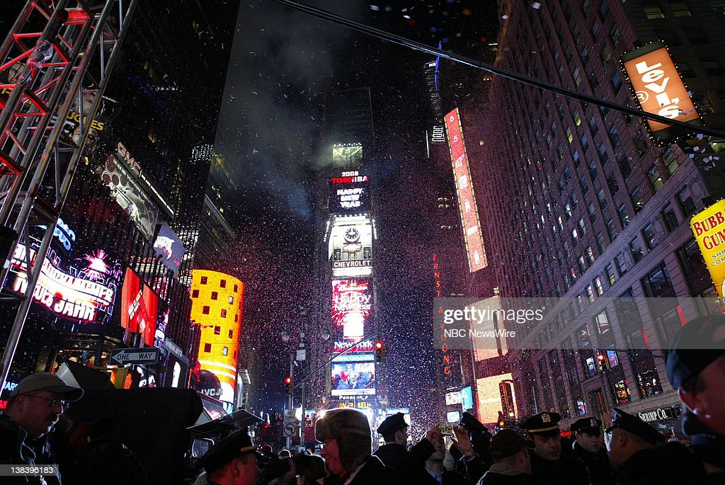 NBC News    Times Square New Year s Eve Celebration Pictures   Getty     NBC NEWS    Times Square New Year s Eve Celebration    Pictured  Revelers  welcome