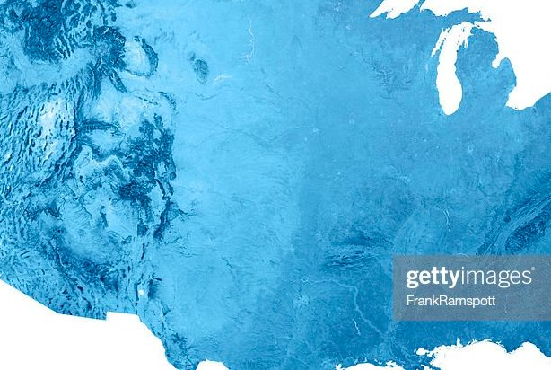 HD Decor Images » Usa Stock Photos and Pictures   Getty Images USA Topographic Map Isolated