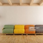 White Lounge With Colorful Pallet Sofa High Res Stock Photo Getty Images