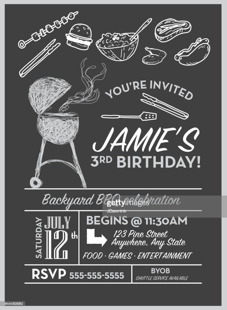 https www gettyimages com detail illustration backyard bbq birthday party invitation royalty free illustration 944450560