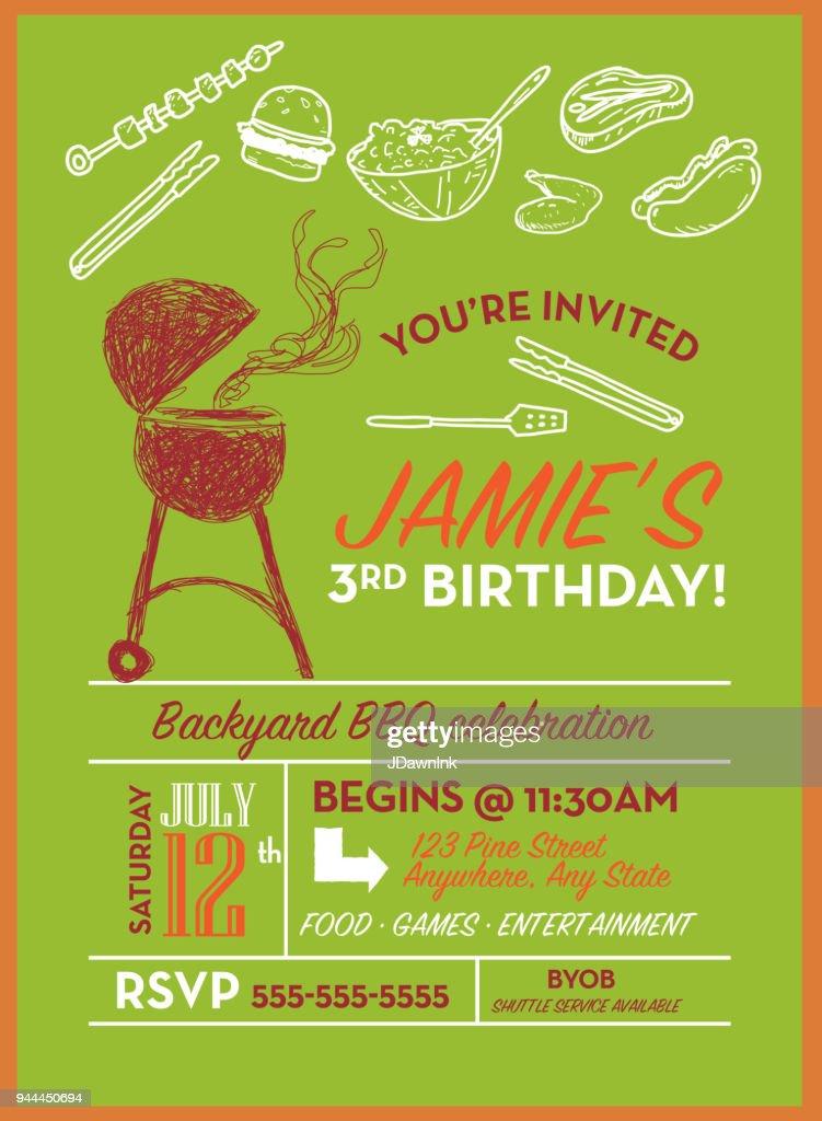 https www gettyimages com detail illustration backyard bbq birthday party invitation royalty free illustration 944450694