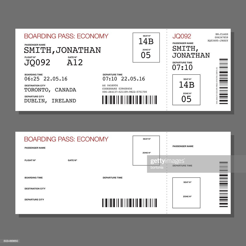 Fake Boarding Pass Template kids airline birthday 4 quot x 9 25 – Boarding Pass Template
