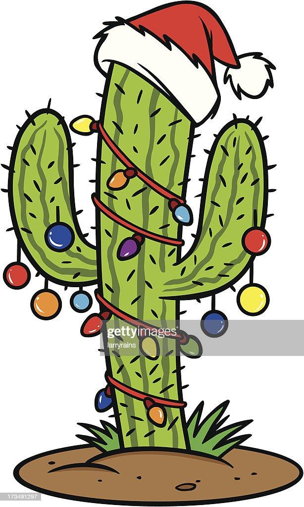 Christmas Cactus Cartoon