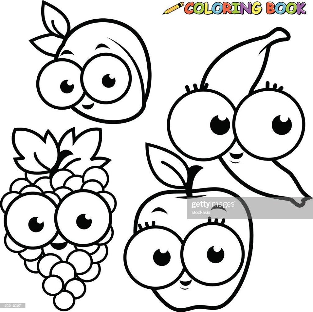 Frutas Para Dibujar Banano Dibujo Para Colorear Banana Img