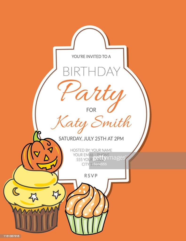 https www gettyimages com detail illustration cupcake party invitation template royalty free illustration 1161387916