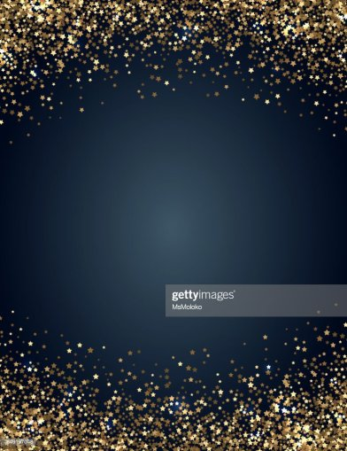 Festive Vertical Christmas And New Year Background With Gold Glitter     Festive vertical Christmas and New Year background with gold glitter of  stars  Vector illustration