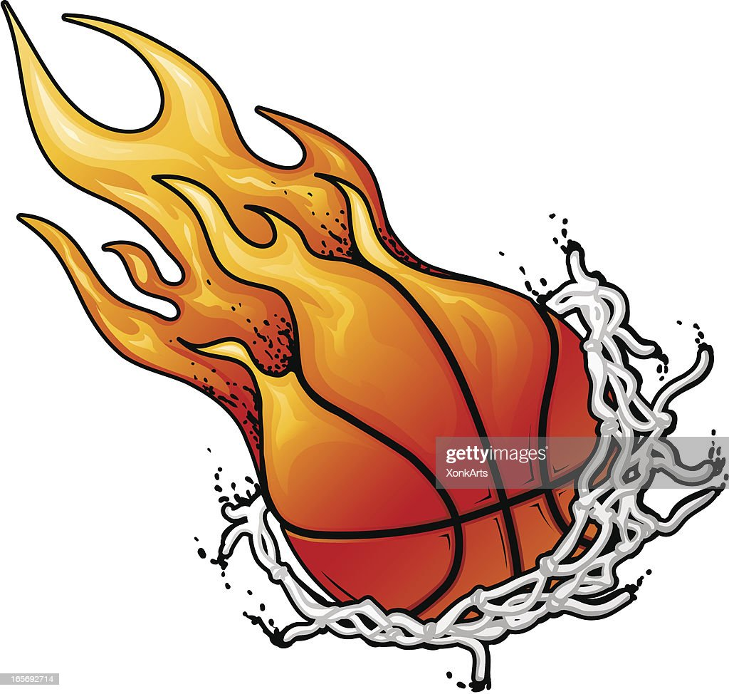Flaming Basket Ball Net