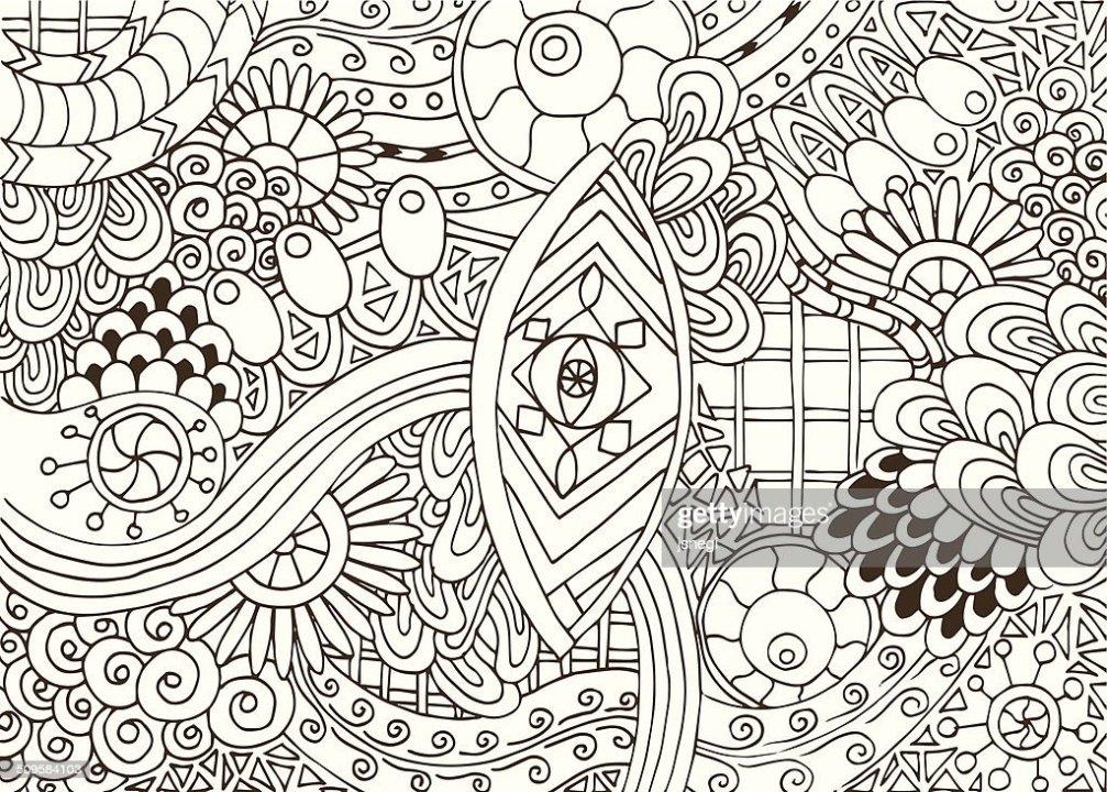 Disegnati A Mano Vettoriale Astratto Sfondo Floreale Arte