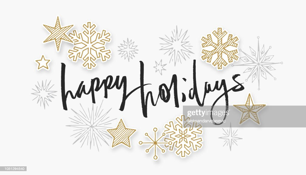 Happy Holidays Vector Art And Graphics Getty Images