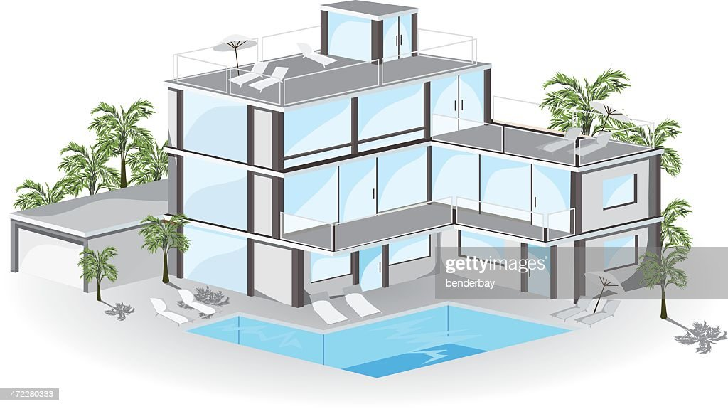 Resort Swimming Pool High Res Illustrations Getty Images