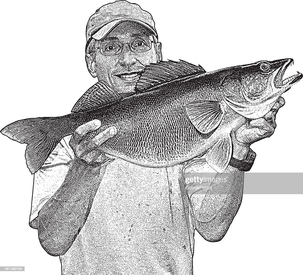 Large Walleye Catch Of Fish Click The Walleye Coloring Pages To