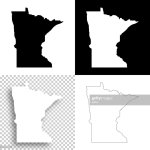 Minnesota Maps For Design Blank White And Black Backgrounds High Res Vector Graphic Getty Images