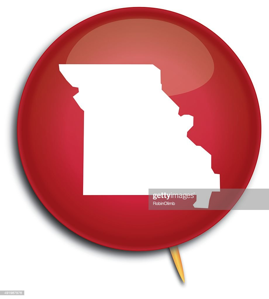 Missouri Map Button Vector Art   Getty Images Missouri Map Button   Vector Art