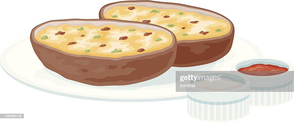 Top Baked Potato Stock Illustrations, Clip Art, Cartoons