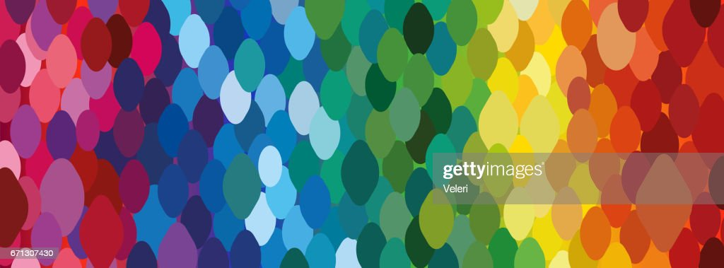 https www gettyimages ch detail illustration rainbow background of dots trendy wallpaper lizenfreie illustration 671307430 language fr