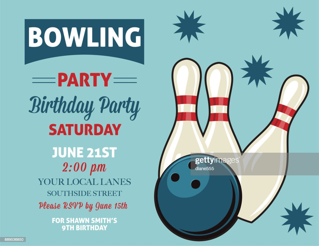 https www gettyimages com detail illustration retro style bowling birthday party royalty free illustration 889536850