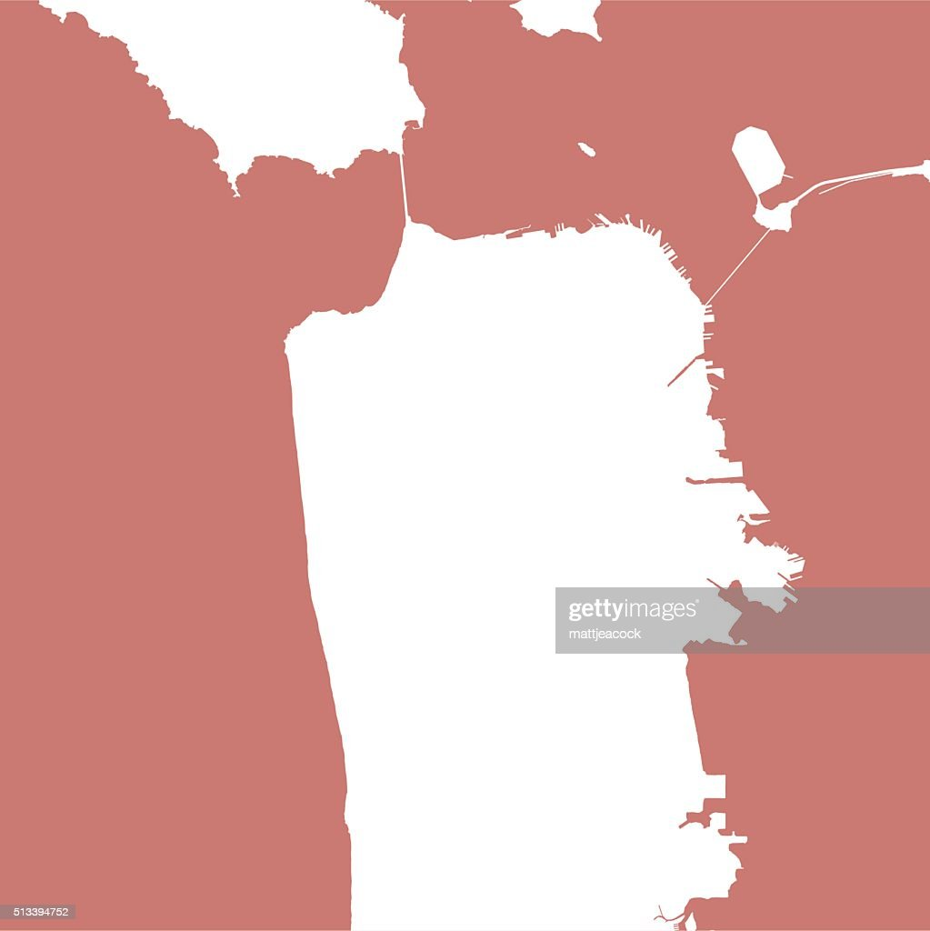San Francisco City Map Outline Vector Art   Getty Images San Francisco city map outline   Vector Art