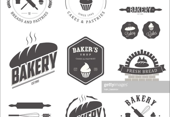 Set Of Bakery Labels And Design Elements Vector Art Thinkstock