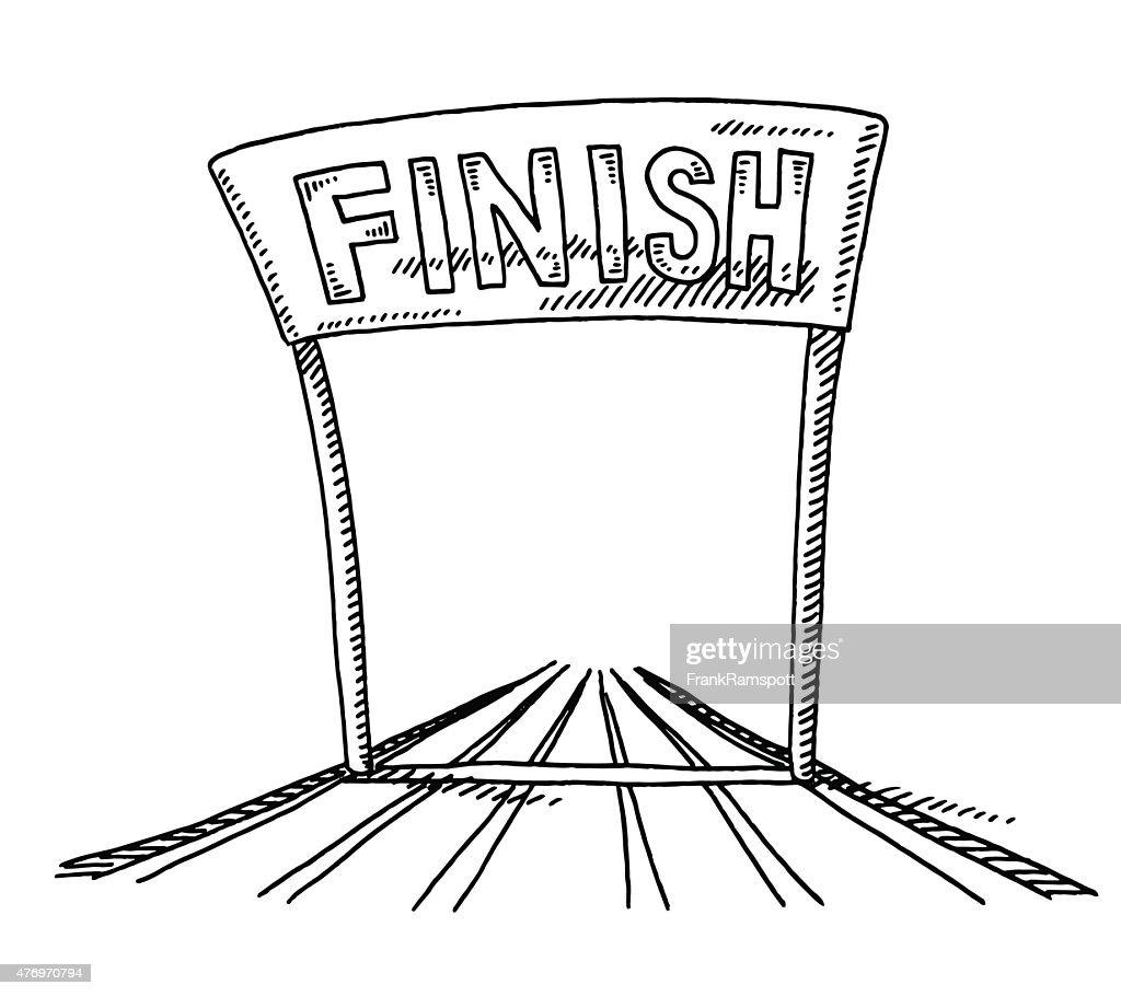Drawing Line Marathon Finish
