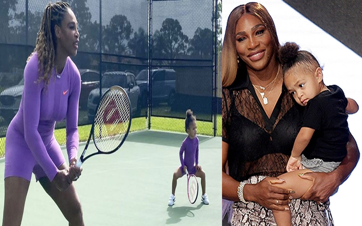 Serena Williams And Daughter Train Together In Matching Outfits