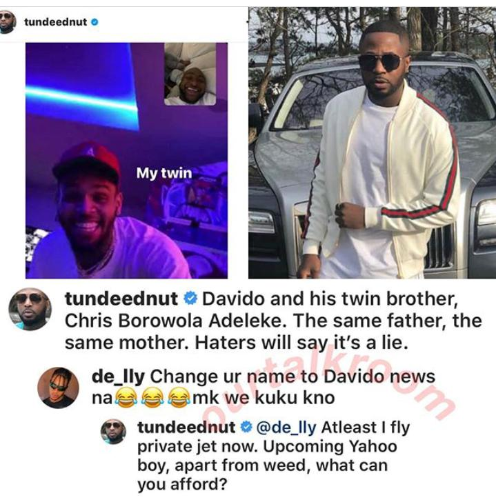 Tunde Ednut Disgraces A Troll Who Slammed Him For Hyping Davido And Chris Brown His year have been kept confidential, due to personal reasons, but it's believed that his birth year is likely to be. tunde ednut disgraces a troll who