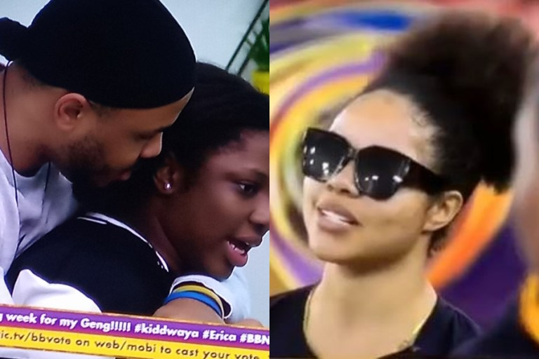 BBNaija 2020:  Moment Ozo held back Dorathy from fighting Nengi (Video)