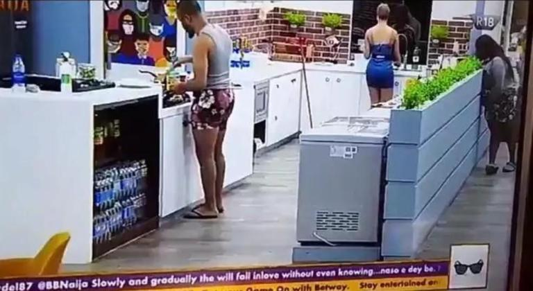 BBNaija 2020: Watch Moment Dorathy Spying Ozo And Nengi In The Kitchen