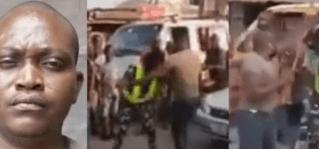 Police arrests dismissed soldier for assaulting a female officer (Video)