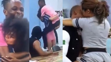 BBNaija 2020: EPIC Moment Nengi Carried Laycon As They Try To Reenact The Eric And Lilo Truth Or Dare Kissing Scene