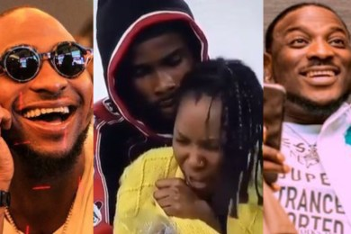 Watch Davido And Peruzzi Troll Neo After Vee Broke Up With Him (Video)