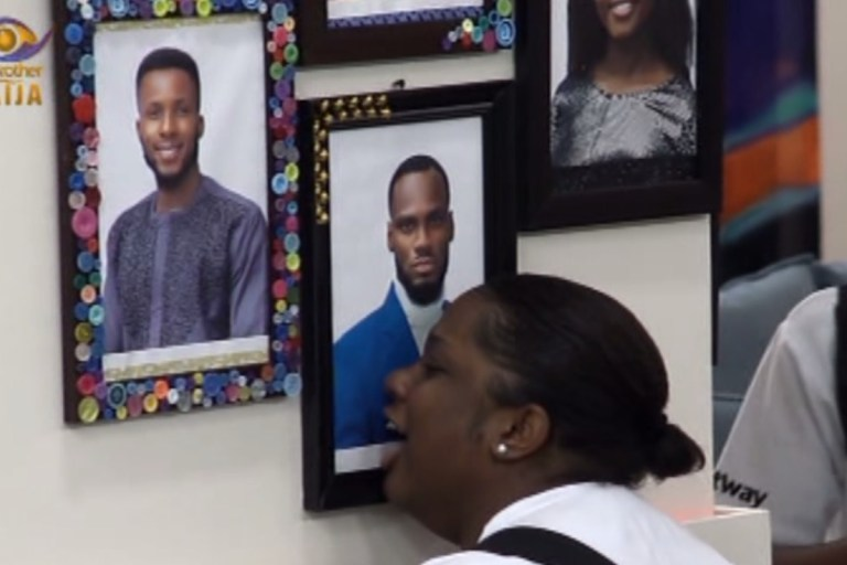 BBNaija: Watch Dorathy's Reaction After Seeing Prince's Portrait On The Wall (Video)