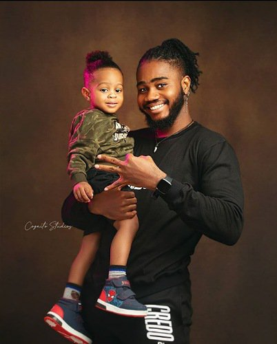 """Daddy Loves You 3,000 Times"" - #BBNAIJA's Praise Flaunts His Cute Son, Jamie In Lovely Photos"