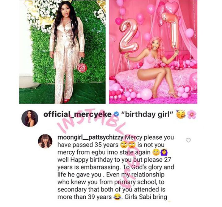 You're Not 27 – Actress Chidinma Reveals Mercy Eke's Real Age As She Calls Her Out For Lying, You're Not 27 – Actress Chidinma Reveals Mercy Eke's Real Age As She Calls Her Out For Lying, Latest Nigeria News, Daily Devotionals & Celebrity Gossips - Chidispalace