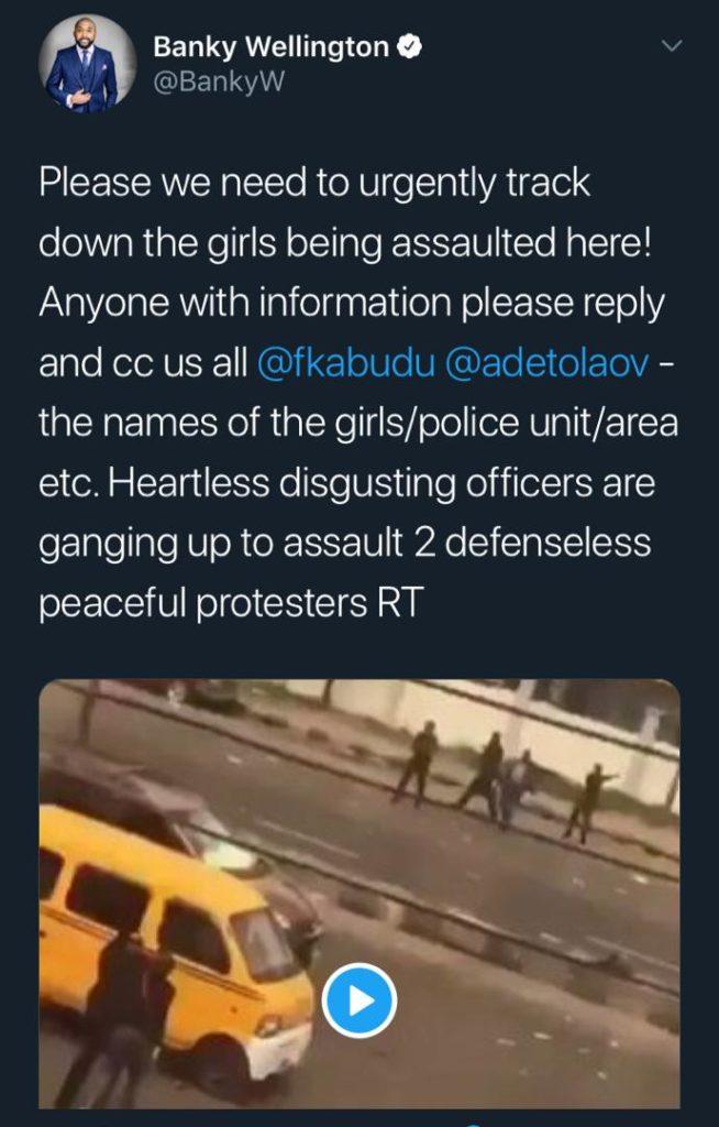 Video Of Nigerian Police Arresting & Beating Up Three Defenseless Female Protestors Goes Viral (WATCH)