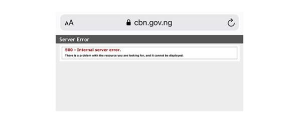 Anonymous Group Strikes Again, Shuts Down Central Bank Of Nigeria's Website