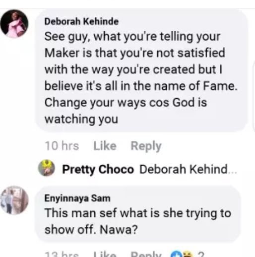 facebook - The Repercussions Of Bleaching – SEE Bobrisky's Recent Photo That Suggests He Is Suffering From Skin Cancer Skin-cancer6