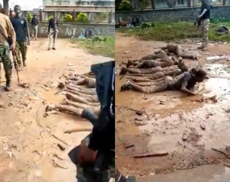 Nigeria Army Subjects Curfew Violators To Severe Punishment In Ilesha, Osun State (Video)